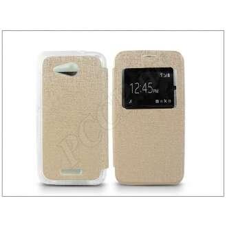 Sony Xperia E4G (E2003) arany oldalra nyíló flip tok