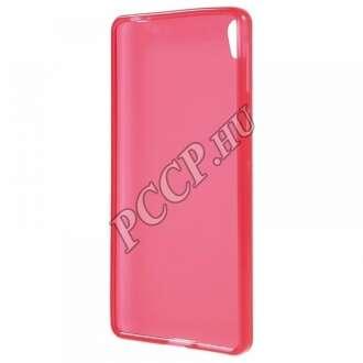 Sony Xperia E5 pink vékony szilikon hátlap