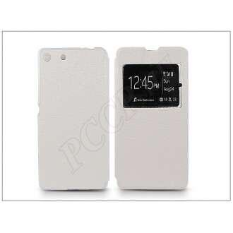 Sony Xperia M5 fehér oldalra nyíló flip tok