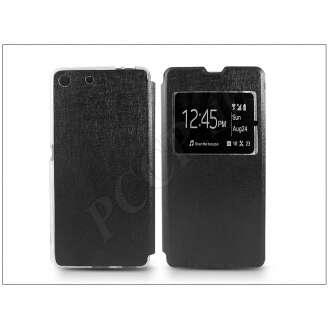 Sony Xperia M5 fekete oldalra nyíló flip tok