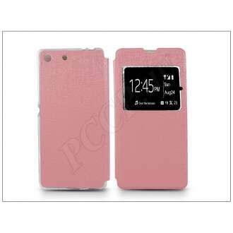 Sony Xperia M5 pink oldalra nyíló flip tok