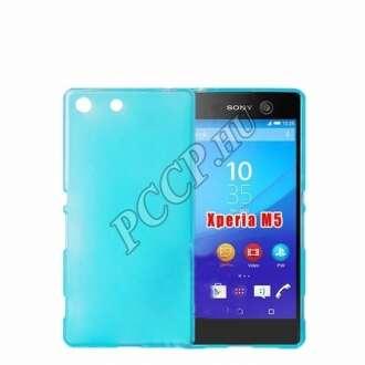 Sony Xperia M5 kék vékony szilikon hátlap