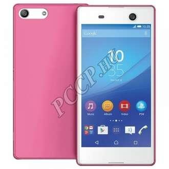Sony Xperia M5 pink vékony szilikon hátlap