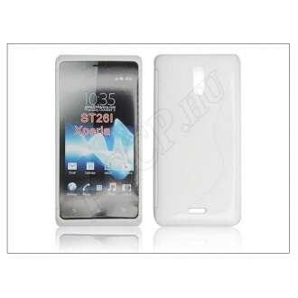 Sony Xperia T fehér szilikon hátlap
