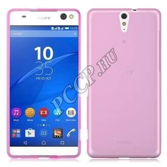 Sony Xperia X pink vékony szilikon hátlap