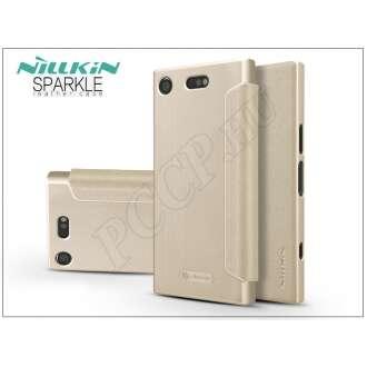 Sony Xperia XZ1 Compact (G8441) arany oldalra nyíló flip tok