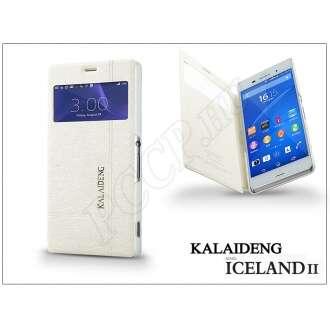 Sony Xperia Z3 (D6603) fehér flip tok