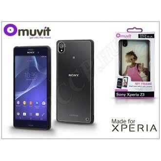 Sony Xperia Z3 (D6603) fekete/átlátszó hátlap