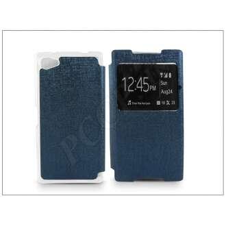 Sony Xperia Z5 Compact (E5803) kék oldalra nyíló flip tok