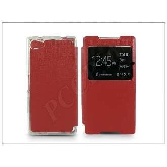 Sony Xperia Z5 Compact (E5803) piros oldalra nyíló flip tok