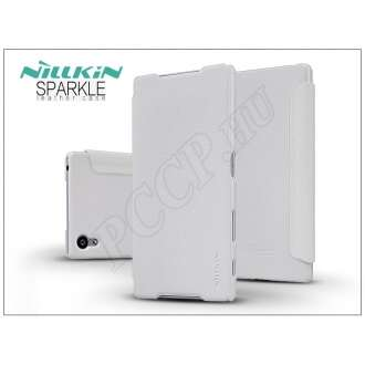 Sony Xperia Z5 (E6653) fehér oldalra nyíló flip tok