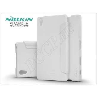 Sony Xperia Z5 Premium (E6853) fehér oldalra nyíló flip tok
