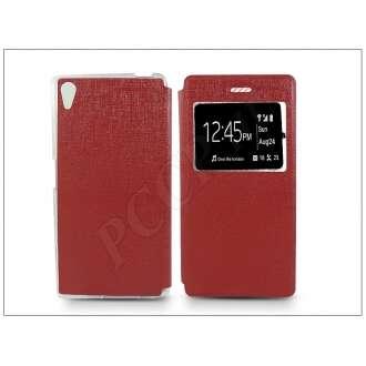 Sony Xperia Z5 piros oldalra nyíló flip tok