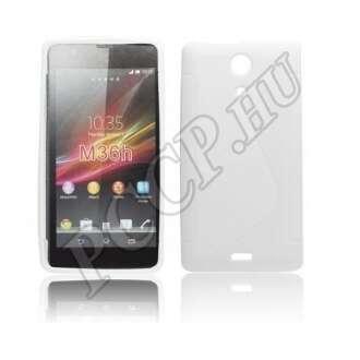 Sony Xperia ZR fehér szilikon hátlap
