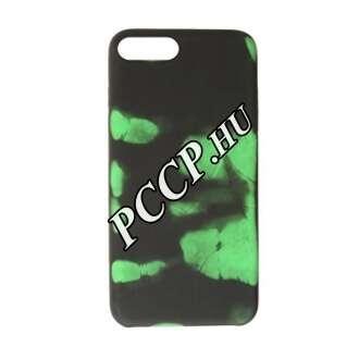 Apple Iphone x színváltós műanyag hátlap fekete-zöld