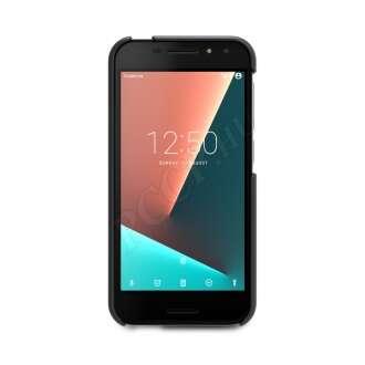 Vodafone Smart N8 fekete bőr hátlap