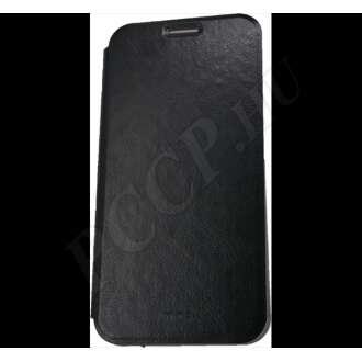 Xiaomi Redmi 6 Pro fekete bőr flip tok