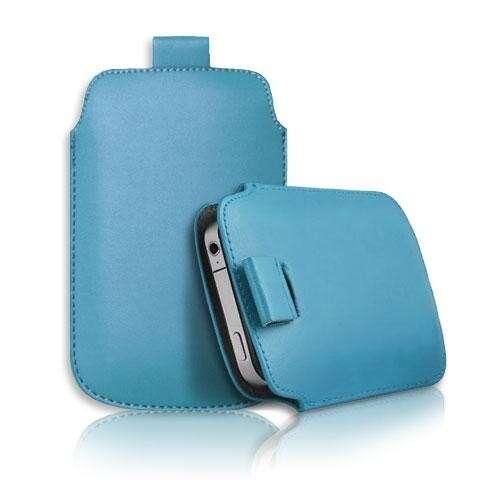 Apple Iphone 5 kék slim bőr tok