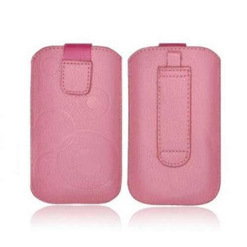 Apple Iphone 5 pink bőr tok