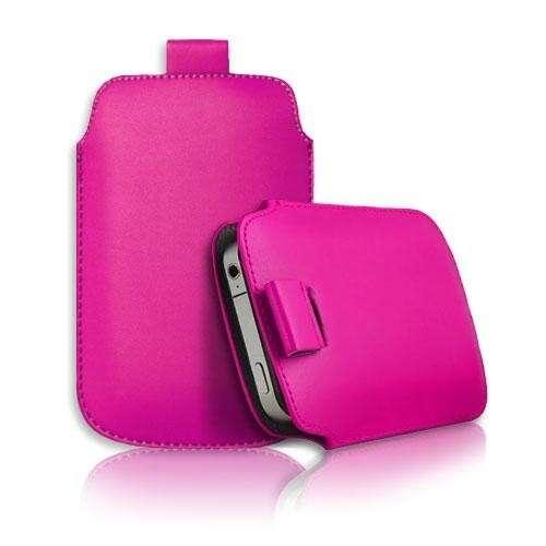 Apple Iphone 5 pink slim bőr tok