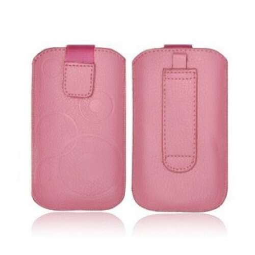 Apple Iphone 5S pink bőr tok
