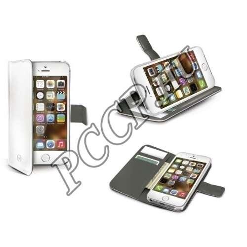 Apple Iphone 6 fehér cover bőr tok
