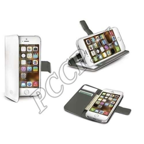 Apple Iphone 6 Plus fehér cover bőr tok