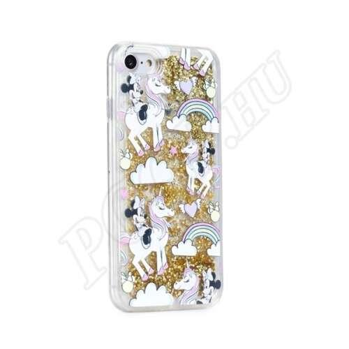 Apple iPhone 6S Plus Minnie egér csodaországban mintás hátlap arany csillámmal