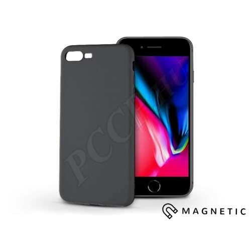 Apple Iphone 7 Plus fekete szilikon hátlap beépített fémlappal