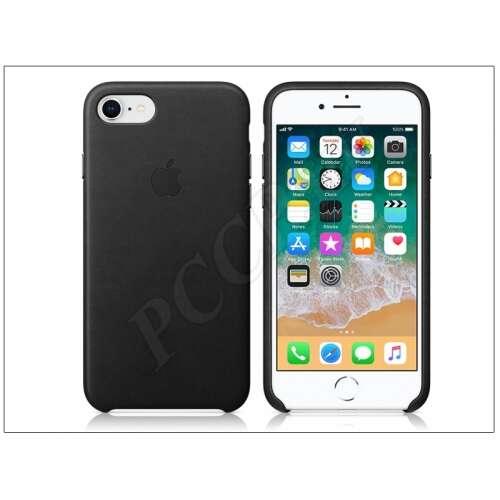 Apple Iphone 8 fekete bőr hátlap