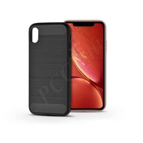 Apple Iphone Xr karbonfekete szilikon hátlap