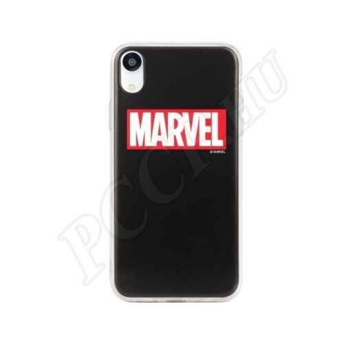 Apple iPhone Xs fekete Marvel (logó) mintás hátlap