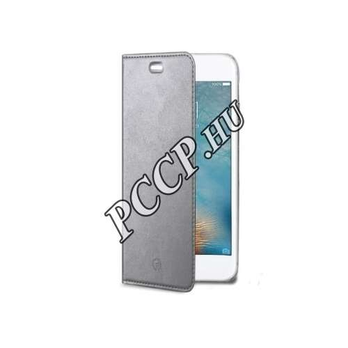 Huawei P10 ezüst flip cover tok