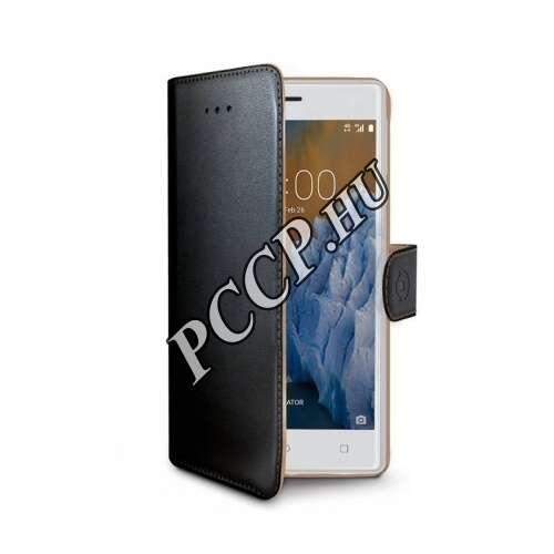 Nokia 3 fekete oldalra nyíló tok