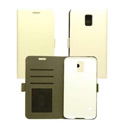 Samsung Galaxy J1 fehér flip oldalra nyíló tok