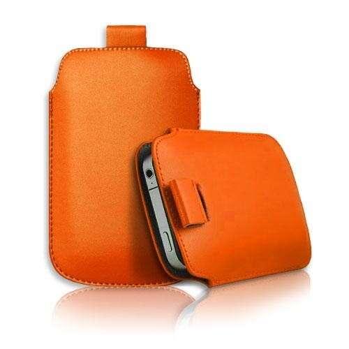 Samsung Galaxy S4 narancs slim bőr tok