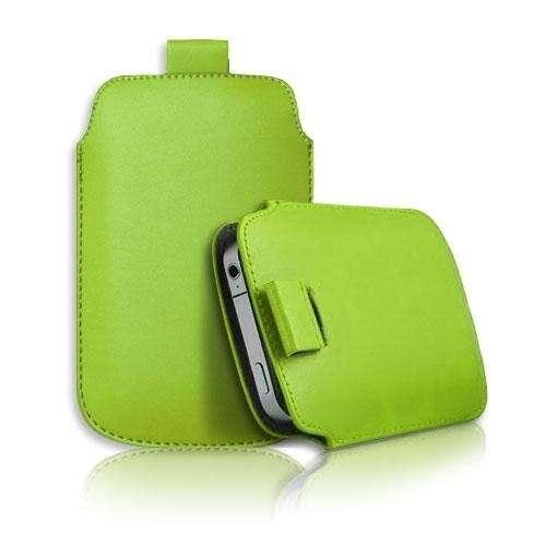 Samsung Galaxy S4 zöld slim bőr tok