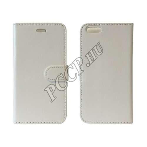 Samsung Galaxy S6 fehér flip oldalra nyíló tok