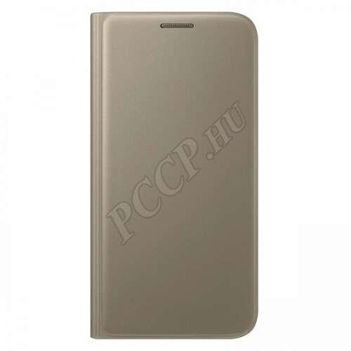 Samsung Galaxy S7 arany bőr book cover tok