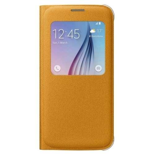 Samsung Galaxy S6 sárga ablakos tok