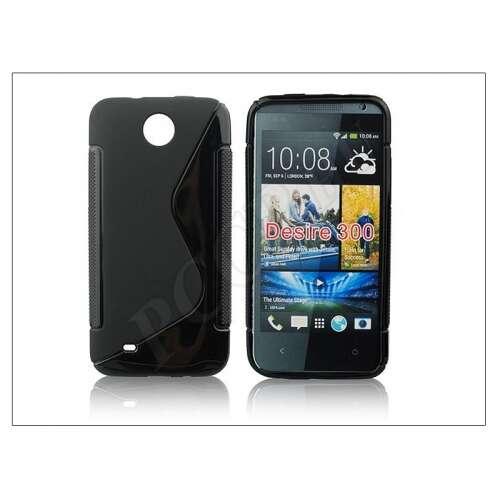 HTC Desire 300 fekete szilikon hátlap