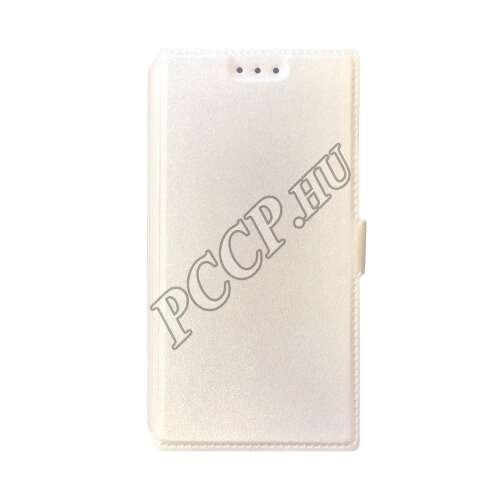 Huawei Honor 8 fehér flip oldalra nyíló tok