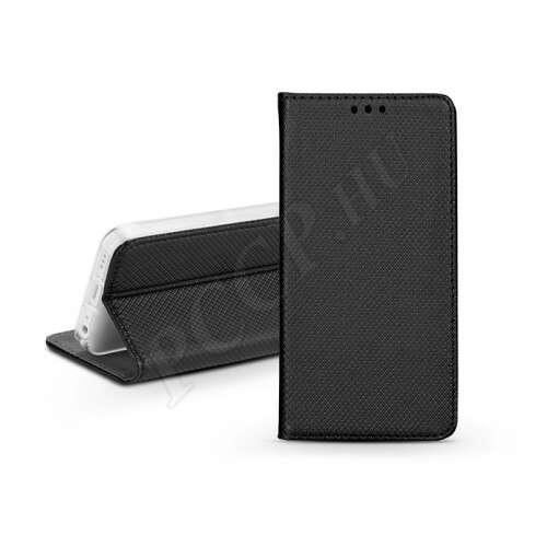 Huawei P Smart (2019) fekete flip bőrtok