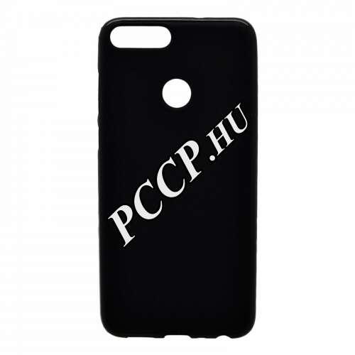 Huawei P Smart fekete vékony szilikon hátlap