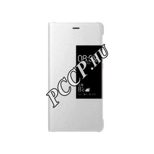 Huawei P10 Lite fehér book cover tok