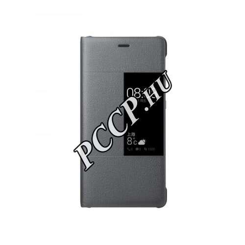 Huawei P10 Lite világosszürke book cover tok