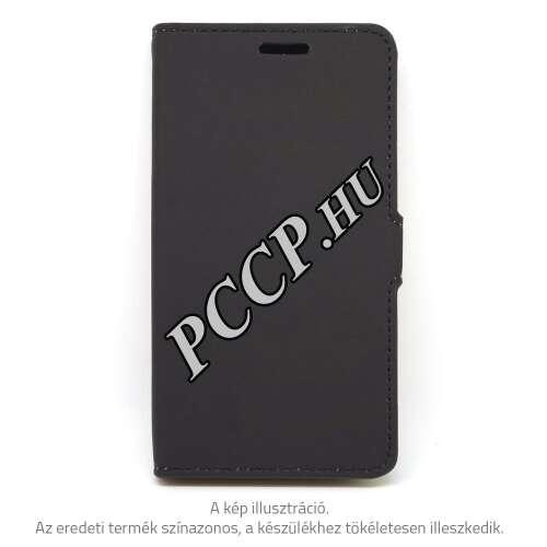 Huawei P10 Plus fekete oldalra nyíló tok