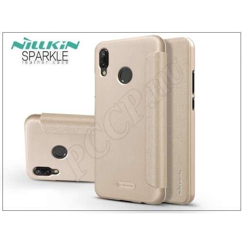 Huawei P20 Lite arany oldalra nyíló flipes tok