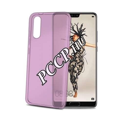 Huawei P20 pink vékony szilikon hátlap
