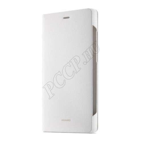Huawei P8 fehér book cover tok